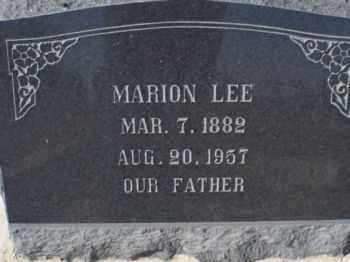 LEE, MARION - Graham County, Arizona | MARION LEE - Arizona Gravestone Photos