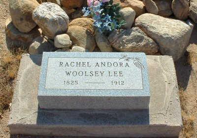 WOOLSEY LEE, RACHEL ANDORA - Graham County, Arizona | RACHEL ANDORA WOOLSEY LEE - Arizona Gravestone Photos
