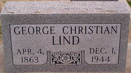 LIND, GEORGE CHRISTIAN 'CHRIS' - Graham County, Arizona | GEORGE CHRISTIAN 'CHRIS' LIND - Arizona Gravestone Photos