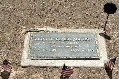 MARBLE, GEORGE - Graham County, Arizona | GEORGE MARBLE - Arizona Gravestone Photos