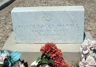 MARBLE, KOYTE LACEY - Graham County, Arizona   KOYTE LACEY MARBLE - Arizona Gravestone Photos