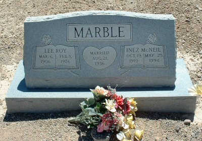 MARBLE, INEZ - Graham County, Arizona | INEZ MARBLE - Arizona Gravestone Photos