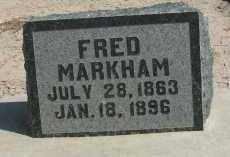 MARKHAM, FRED - Graham County, Arizona   FRED MARKHAM - Arizona Gravestone Photos
