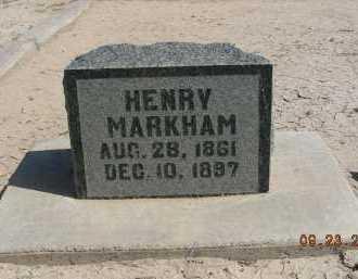 MARKHAM, HENRY - Graham County, Arizona | HENRY MARKHAM - Arizona Gravestone Photos