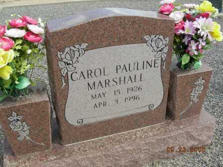 MARSHALL, CAROL PAULINE - Graham County, Arizona   CAROL PAULINE MARSHALL - Arizona Gravestone Photos