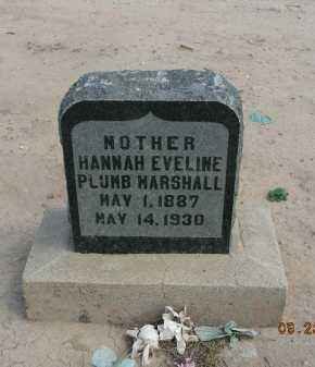 PLUMB MARSHALL, HANNAH EVELINE - Graham County, Arizona | HANNAH EVELINE PLUMB MARSHALL - Arizona Gravestone Photos