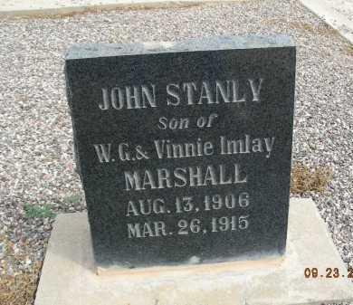 MARSHALL, JOHN STANLY - Graham County, Arizona   JOHN STANLY MARSHALL - Arizona Gravestone Photos