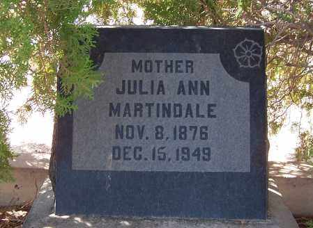 IRA MARTINDALE, JULIA ANN - Graham County, Arizona | JULIA ANN IRA MARTINDALE - Arizona Gravestone Photos