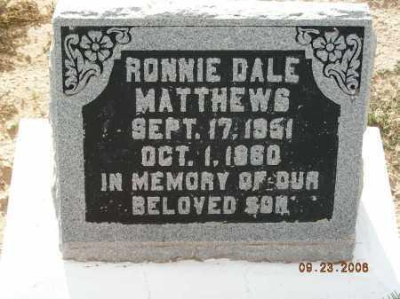 MATTHEWS, RONNIE DALE - Graham County, Arizona   RONNIE DALE MATTHEWS - Arizona Gravestone Photos