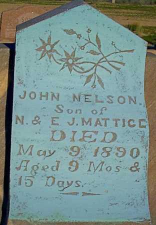 MATTICE, JOHN NELSON - Graham County, Arizona | JOHN NELSON MATTICE - Arizona Gravestone Photos