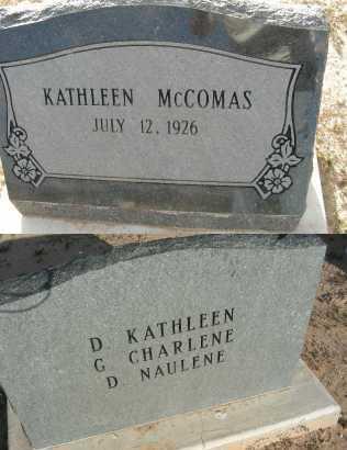 MCCOMAS, KATHLEEN - Graham County, Arizona | KATHLEEN MCCOMAS - Arizona Gravestone Photos