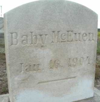 MCEUEN, BABY - Graham County, Arizona | BABY MCEUEN - Arizona Gravestone Photos