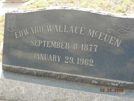MCEUEN, EDWARD WALLACE - Graham County, Arizona   EDWARD WALLACE MCEUEN - Arizona Gravestone Photos