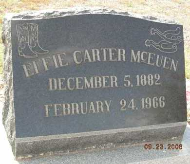 CARTER MCEUEN, EFFIE - Graham County, Arizona | EFFIE CARTER MCEUEN - Arizona Gravestone Photos