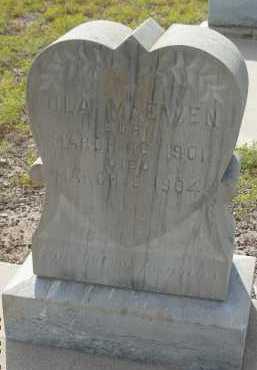 MCEWEN, OLA - Graham County, Arizona   OLA MCEWEN - Arizona Gravestone Photos