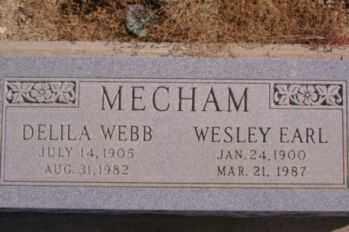 MECHAM, DELILA - Graham County, Arizona | DELILA MECHAM - Arizona Gravestone Photos