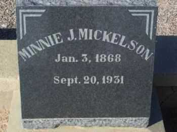 MICKELSON, MINNIE J. - Graham County, Arizona | MINNIE J. MICKELSON - Arizona Gravestone Photos