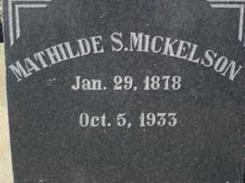MICKELSON, KATHERINE MATHILDA (MATHILDE) - Graham County, Arizona | KATHERINE MATHILDA (MATHILDE) MICKELSON - Arizona Gravestone Photos