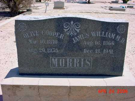 MORRIS, DR. JAMES WILLIAM - Graham County, Arizona | DR. JAMES WILLIAM MORRIS - Arizona Gravestone Photos