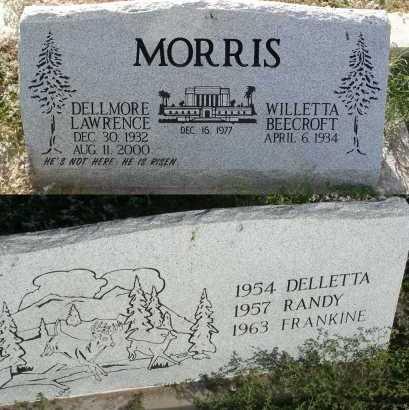 MORRIS, WILLETTA BEECROFT - Graham County, Arizona | WILLETTA BEECROFT MORRIS - Arizona Gravestone Photos