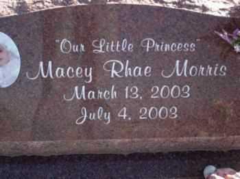 MORRIS, MACEY RHAE - Graham County, Arizona | MACEY RHAE MORRIS - Arizona Gravestone Photos