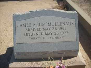 MULLENAUX, JAMES A. (JIM) - Graham County, Arizona   JAMES A. (JIM) MULLENAUX - Arizona Gravestone Photos