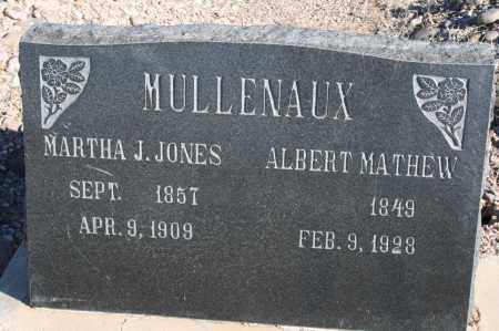 MULLENAUX, ALBERT MATHEW - Graham County, Arizona   ALBERT MATHEW MULLENAUX - Arizona Gravestone Photos