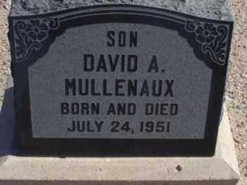 MULLENAUX, DAVID A. - Graham County, Arizona | DAVID A. MULLENAUX - Arizona Gravestone Photos