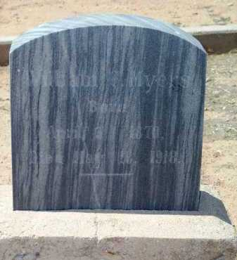 MYERS, WILLIAM CHESTERFIELD - Graham County, Arizona | WILLIAM CHESTERFIELD MYERS - Arizona Gravestone Photos