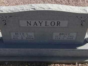PORTER NAYLOR, BETH LENORE - Graham County, Arizona | BETH LENORE PORTER NAYLOR - Arizona Gravestone Photos
