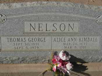 NELSON, THOMAS GEORGE - Graham County, Arizona | THOMAS GEORGE NELSON - Arizona Gravestone Photos