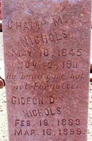 NICHOLS, GIDEON D. - Graham County, Arizona | GIDEON D. NICHOLS - Arizona Gravestone Photos