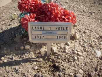 TAYLOR NOBLE, LARUE - Graham County, Arizona | LARUE TAYLOR NOBLE - Arizona Gravestone Photos