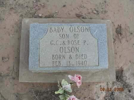 OLSON, BABY - Graham County, Arizona | BABY OLSON - Arizona Gravestone Photos