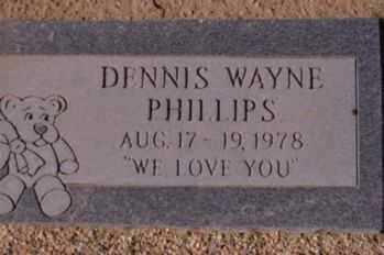 PHILLIPS, DENNIS WAYNE - Graham County, Arizona | DENNIS WAYNE PHILLIPS - Arizona Gravestone Photos