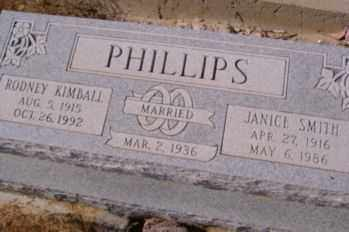 SMITH PHILLIPS, JANICE - Graham County, Arizona | JANICE SMITH PHILLIPS - Arizona Gravestone Photos