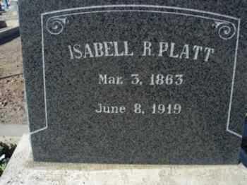 PLATT, ISABELL HILL - Graham County, Arizona | ISABELL HILL PLATT - Arizona Gravestone Photos