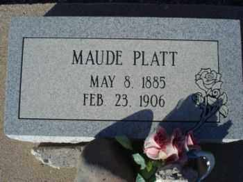 PLATT, MAUDE - Graham County, Arizona | MAUDE PLATT - Arizona Gravestone Photos