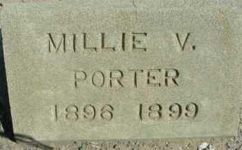 PORTER, MILLIE V - Graham County, Arizona | MILLIE V PORTER - Arizona Gravestone Photos