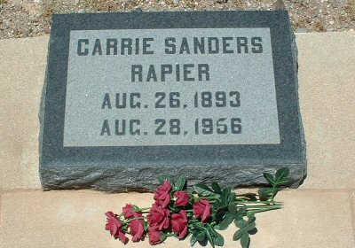 SANDERS RAPIER, CARRIE - Graham County, Arizona   CARRIE SANDERS RAPIER - Arizona Gravestone Photos