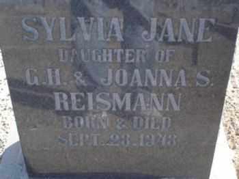 REISMANN, SYLVIA JANE - Graham County, Arizona | SYLVIA JANE REISMANN - Arizona Gravestone Photos