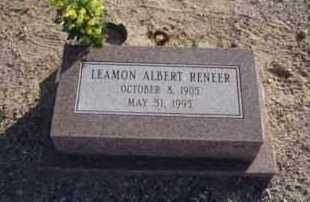 RENEER, LEAMON ALBERT - Graham County, Arizona   LEAMON ALBERT RENEER - Arizona Gravestone Photos
