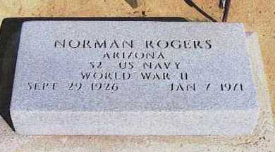 ROGERS, NORMAN - Graham County, Arizona | NORMAN ROGERS - Arizona Gravestone Photos