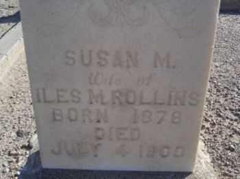 ROLLINS, SUSAN M. - Graham County, Arizona | SUSAN M. ROLLINS - Arizona Gravestone Photos