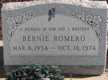 ROMERO, BERNIE - Graham County, Arizona | BERNIE ROMERO - Arizona Gravestone Photos