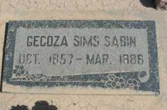 SABIN, GECOZA - Graham County, Arizona | GECOZA SABIN - Arizona Gravestone Photos