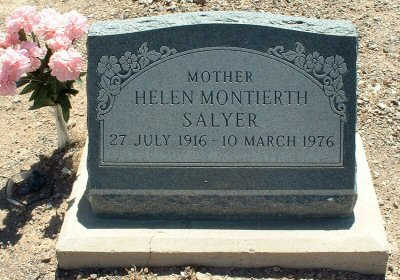 MONTIERTH SALYER, HELEN - Graham County, Arizona | HELEN MONTIERTH SALYER - Arizona Gravestone Photos
