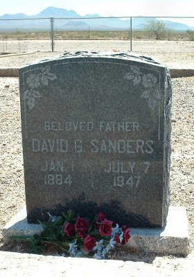 SANDERS, DAVID G. - Graham County, Arizona | DAVID G. SANDERS - Arizona Gravestone Photos