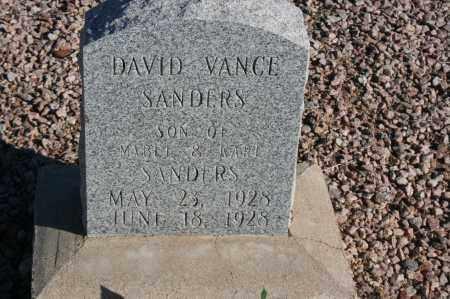 SANDERS, DAVID VANCE - Graham County, Arizona | DAVID VANCE SANDERS - Arizona Gravestone Photos