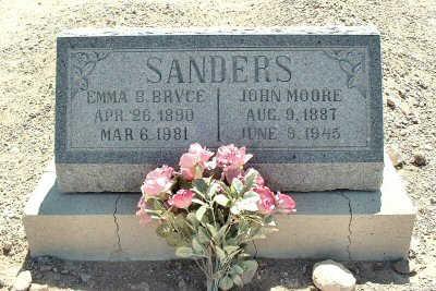 BRYCE SANDERS, EMMA B. - Graham County, Arizona   EMMA B. BRYCE SANDERS - Arizona Gravestone Photos